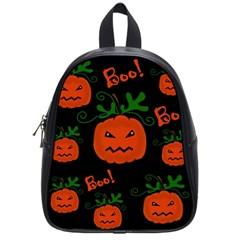 Halloween Pumpkin Pattern School Bags (small)  by Valentinaart