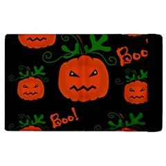 Halloween Pumpkin Pattern Apple Ipad 3/4 Flip Case by Valentinaart