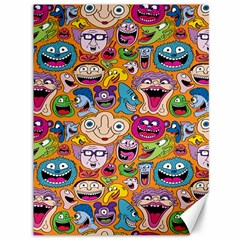 Smiley Pattern Canvas 36  x 48   by AnjaniArt