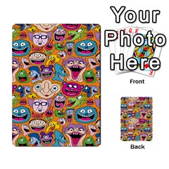 Smiley Pattern Multi-purpose Cards (Rectangle)  by AnjaniArt