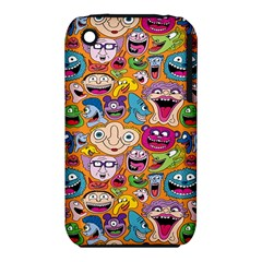 Smiley Pattern Apple iPhone 3G/3GS Hardshell Case (PC+Silicone) by AnjaniArt