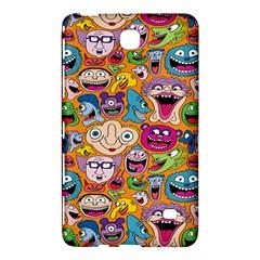 Smiley Pattern Samsung Galaxy Tab 4 (8 ) Hardshell Case  by AnjaniArt