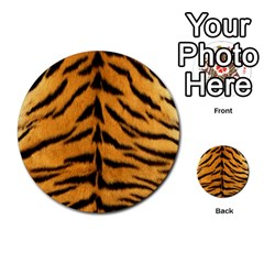 Tiger Skin Multi Purpose Cards (round)  by AnjaniArt