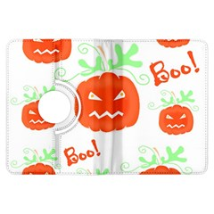 Halloween Pumpkins Pattern Kindle Fire Hdx Flip 360 Case by Valentinaart