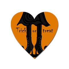 Halloween   Witch Boots Heart Magnet by Valentinaart
