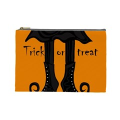 Halloween   Witch Boots Cosmetic Bag (large)  by Valentinaart