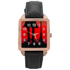 Halloween black witch Rose Gold Leather Watch