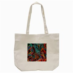 Brilliant Abstract In Blue, Orange, Purple, And Lime Green  Tote Bag (cream)