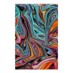 Brilliant Abstract In Blue, Orange, Purple, And Lime Green  Shower Curtain 48  X 72  (small)  by theunrulyartist