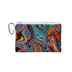 Brilliant Abstract In Blue, Orange, Purple, And Lime Green  Canvas Cosmetic Bag (s) by theunrulyartist