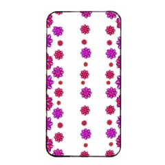 Vertical Stripes Floral Pattern Collage Apple Iphone 4/4s Seamless Case (black) by dflcprints