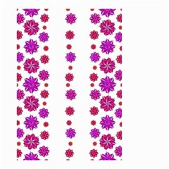 Vertical Stripes Floral Pattern Collage Small Garden Flag (two Sides) by dflcprints