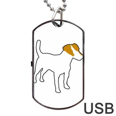 Jack Russell Terrier Color Silo Dog Tag USB Flash (One Side) by TailWags