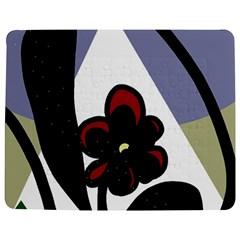 Black Flower Jigsaw Puzzle Photo Stand (rectangular) by Valentinaart