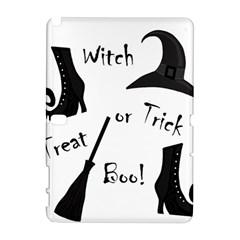 Halloween witch Samsung Galaxy Note 10.1 (P600) Hardshell Case by Valentinaart