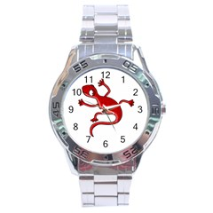 Red Lizard Stainless Steel Analogue Watch by Valentinaart