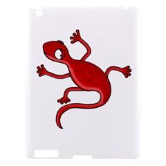 Red Lizard Apple Ipad 3/4 Hardshell Case by Valentinaart