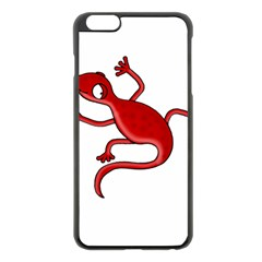 Red Lizard Apple Iphone 6 Plus/6s Plus Black Enamel Case by Valentinaart