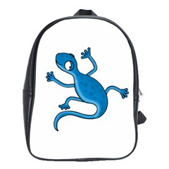 Blue Lizard School Bags (xl)  by Valentinaart