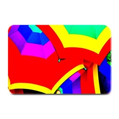 Umbrella Color Red Yellow Green Blue Purple Plate Mats by AnjaniArt