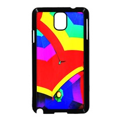 Umbrella Color Red Yellow Green Blue Purple Samsung Galaxy Note 3 Neo Hardshell Case (black) by AnjaniArt