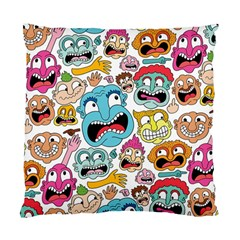 Weird Faces Pattern Standard Cushion Case (one Side) by AnjaniArt