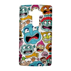 Weird Faces Pattern Lg G4 Hardshell Case by AnjaniArt