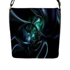 Ws Blue Green Float Flap Messenger Bag (l)  by AnjaniArt