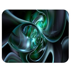 Ws Blue Green Float Double Sided Flano Blanket (medium)  by AnjaniArt