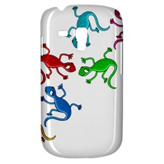 Colorful Lizards Samsung Galaxy S3 Mini I8190 Hardshell Case by Valentinaart