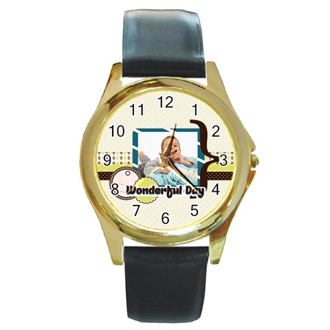 Kids By Kids   Round Gold Metal Watch   D31x9fs5yhjd   Www Artscow Com Front