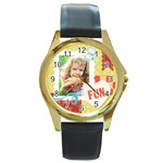 kids - Round Gold Metal Watch