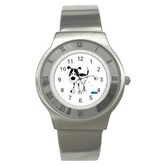 My Cute Dog Stainless Steel Watch by Valentinaart