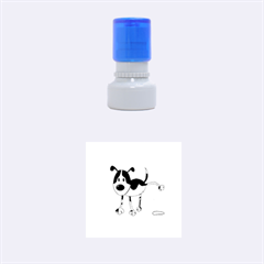 My Cute Dog Rubber Round Stamps (small) by Valentinaart