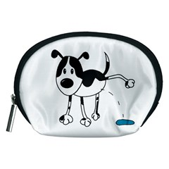My Cute Dog Accessory Pouches (medium)  by Valentinaart