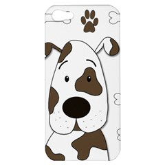 Cute Dog Apple Iphone 5 Hardshell Case by Valentinaart