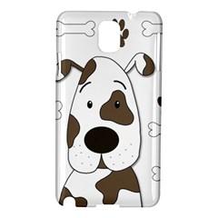 Cute Dog Samsung Galaxy Note 3 N9005 Hardshell Case by Valentinaart