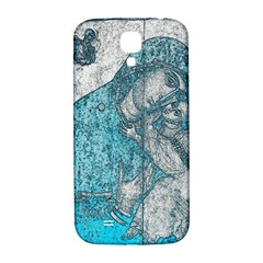 Mother Mary And Infant Jesus Christ  Blue Portrait Old Vintage Drawing Samsung Galaxy S4 I9500/i9505  Hardshell Back Case by yoursparklingshop