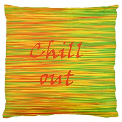 Chill Out Large Flano Cushion Case (two Sides) by Valentinaart