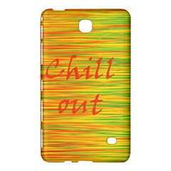 Chill Out Samsung Galaxy Tab 4 (8 ) Hardshell Case  by Valentinaart