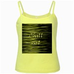 Black an white  Chill out  Yellow Spaghetti Tank