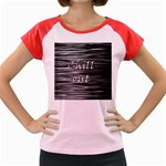Black an white  Chill out  Women s Cap Sleeve T-Shirt