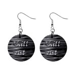 Black an white  Chill out  Mini Button Earrings