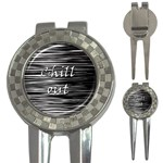 Black an white  Chill out  3-in-1 Golf Divots