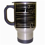Black an white  Chill out  Travel Mug (Silver Gray)