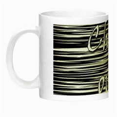 Black An White  chill Out  Night Luminous Mugs by Valentinaart