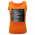 Black an white  Chill out  Women s Dark Tank Top