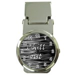 Black an white  Chill out  Money Clip Watches