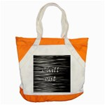 Black an white  Chill out  Accent Tote Bag