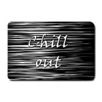 Black an white  Chill out  Small Doormat